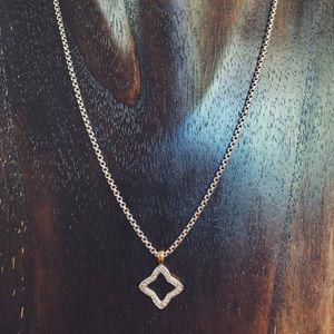 David Yurman Quatrefoil Diamond Necklace